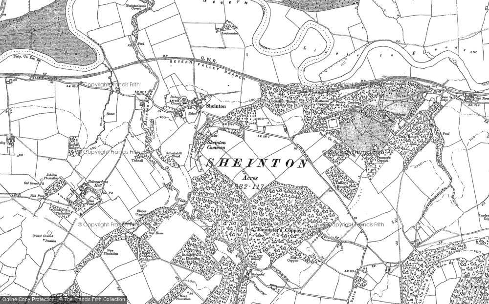 Old Map of Historic Map covering Leechmeadow Cott in 1882