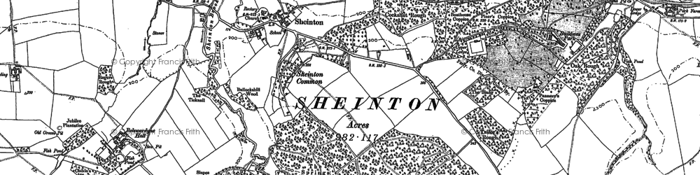 Old map of Bannister's Coppice in 1882
