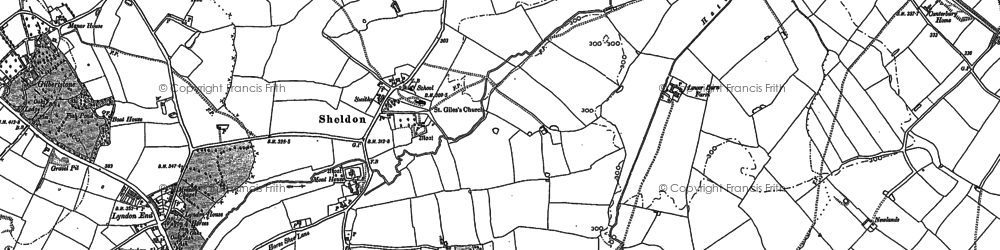 Old map of Sheldon in 1886