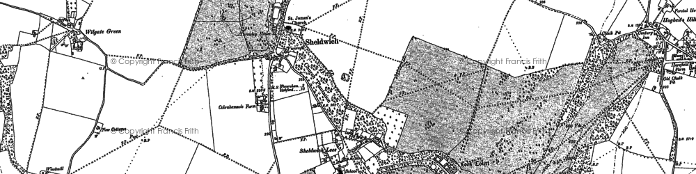 Old map of Badlesmere Court in 1896