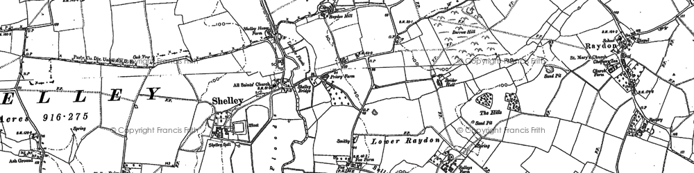 Old map of Withermarsh Green in 1884