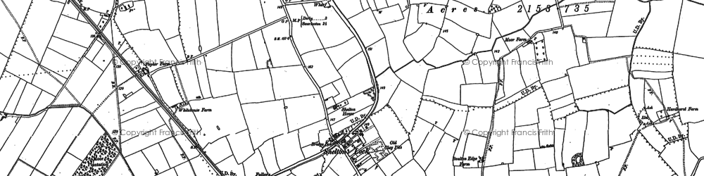 Old map of Shelton Lock in 1899