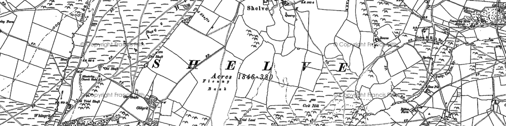 Old map of White Grit in 1882