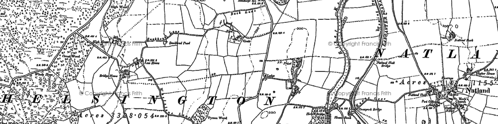 Old map of Lane Head in 1897