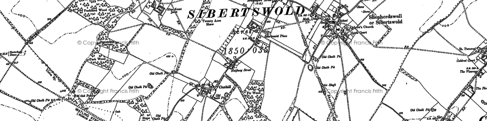 Old map of Shepherdswell in 1896