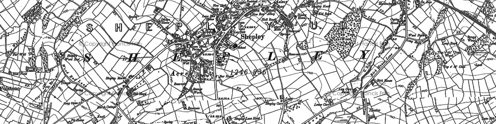 Old map of Shepley in 1888