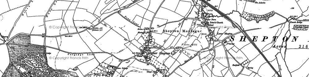 Old map of Avaries,The in 1885