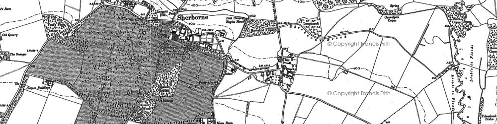 Old map of Sherborne in 1882