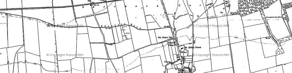 Old map of Westfield Wold in 1889