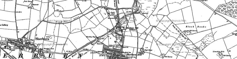 Old map of Sherburn Hill in 1896