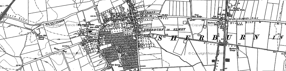 Old map of Sherburn in Elmet in 1890