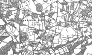 Old Map of Sherfield English, 1895 - 1908