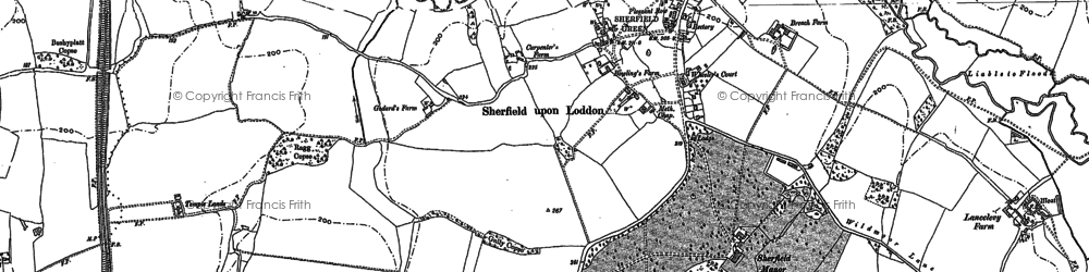 Old map of Wildmoor in 1894