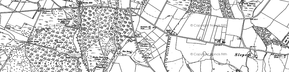 Old map of Woolsbarrow (Fort) in 1886