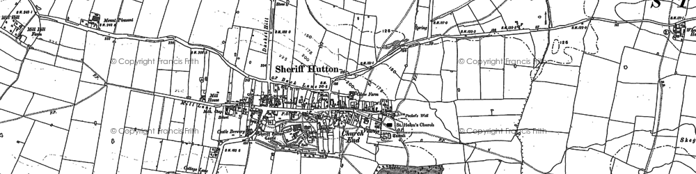 Old map of Sheriff Hutton in 1891