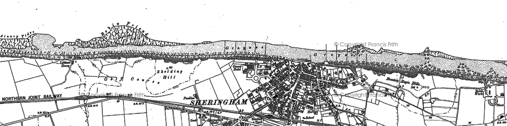 Old map of Sheringham in 1904