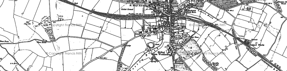 Old map of Shifnal in 1881