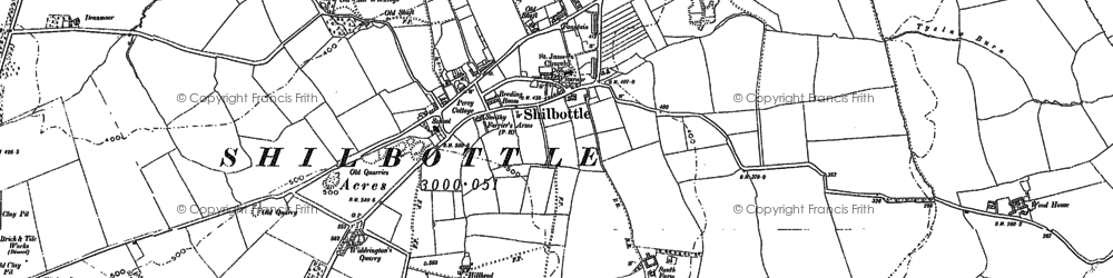 Old map of Shilbottle in 1896