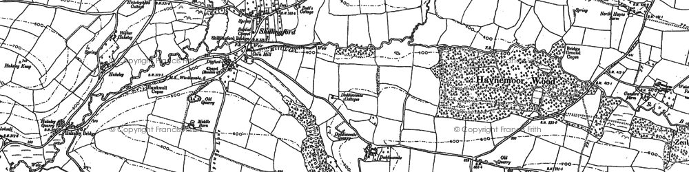 Old map of Westwoods in 1903