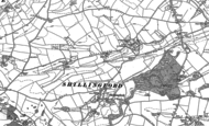 Old Map of Shillingford Abbot, 1888