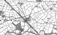 Old Map of Shilton, 1886