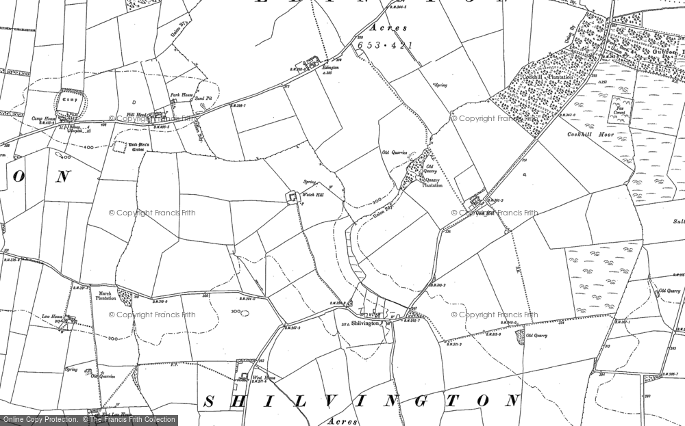 Old Map of Shilvington, 1896 in 1896