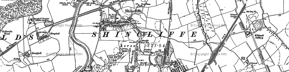 Old map of Whitwell Grange in 1895