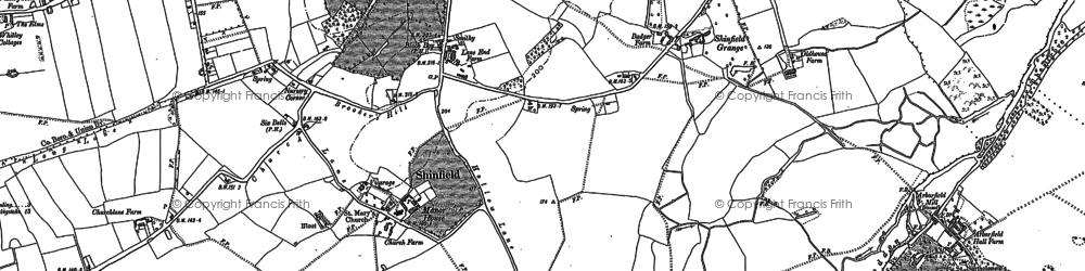 Old map of Whitley Wood in 1898