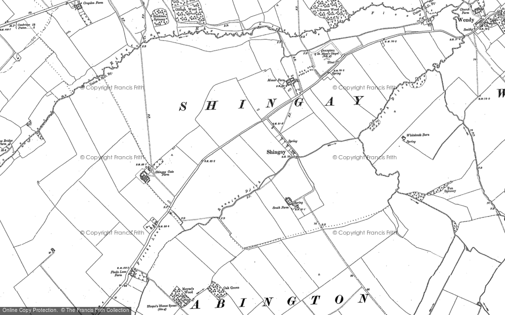 Old Map of Shingay, 1886 - 1901 in 1886