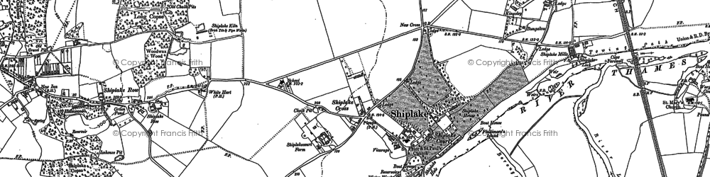 Old map of Borough Marsh in 1910