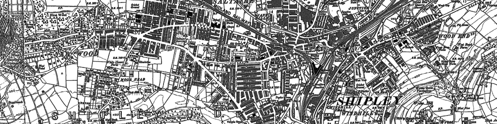 Old map of Shipley in 1891