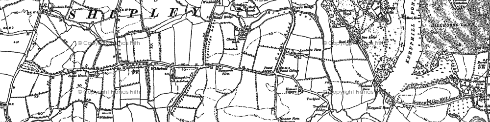 Old map of Whitehall in 1896