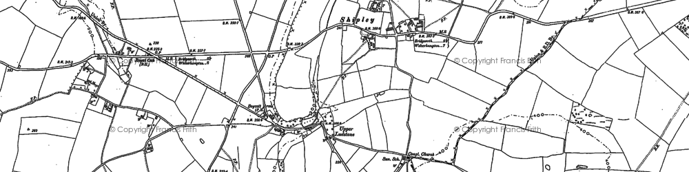 Old map of Abbot's Castle Hill in 1900