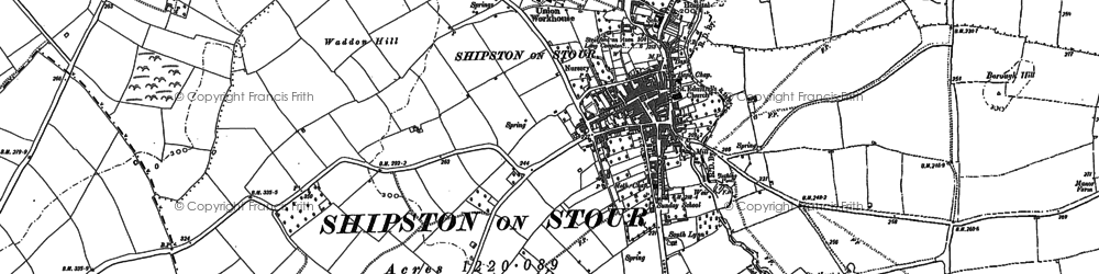 Old map of Shipston-on-Stour in 1900