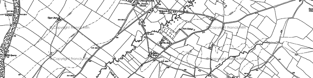 Old map of Shipton in 1882
