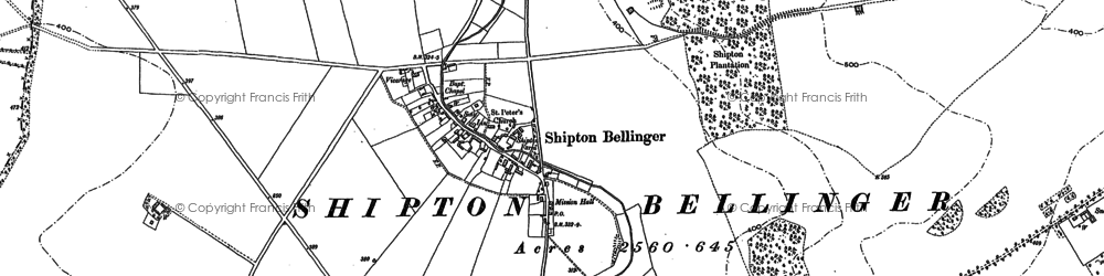 Old map of Althorne in 1899