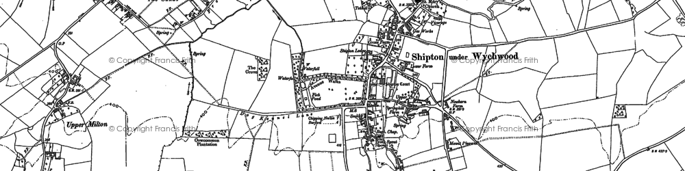 Old map of Shipton under Wychwood in 1898