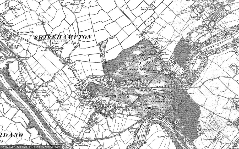 Old Map of Shirehampton, 1901 - 1902 in 1901