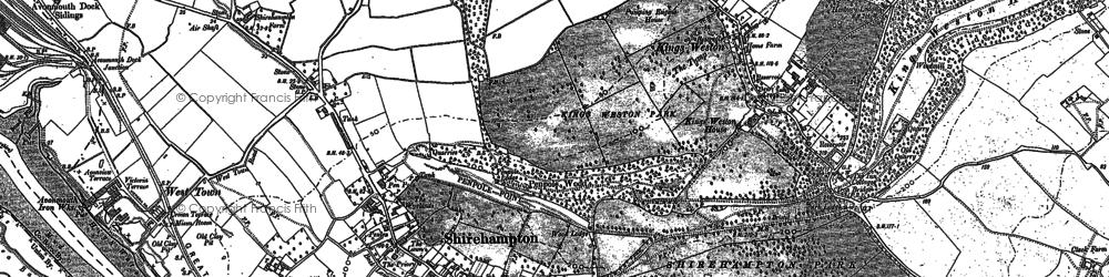 Old map of Shirehampton in 1901