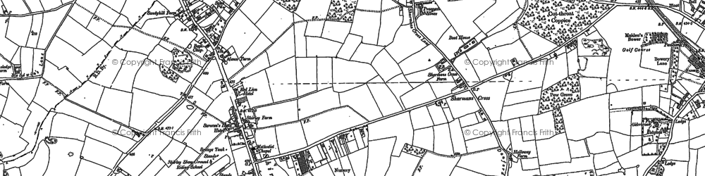 Old map of Shirley in 1886