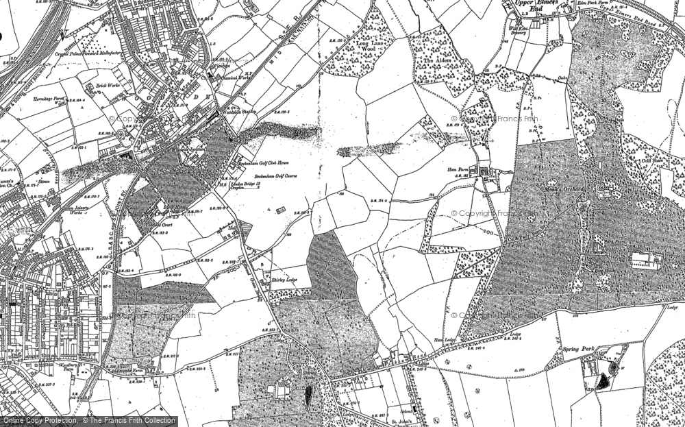 Map of Shirley, 1911