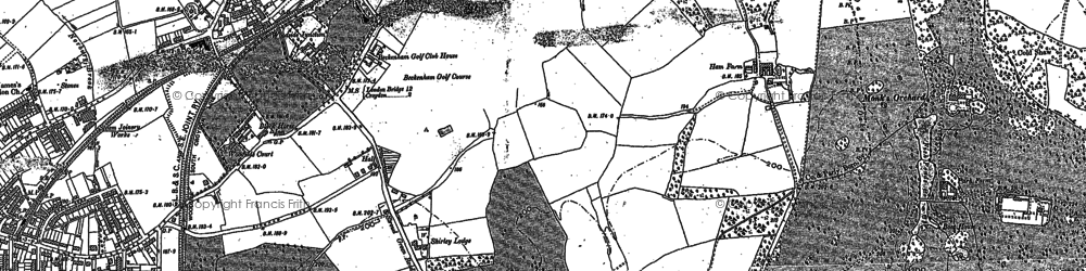 Old map of Shirley in 1911