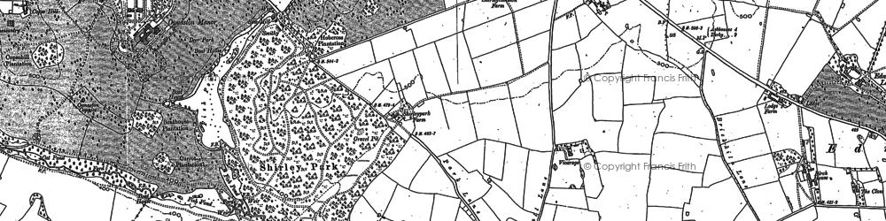 Old map of Yeldersley Hollies in 1880