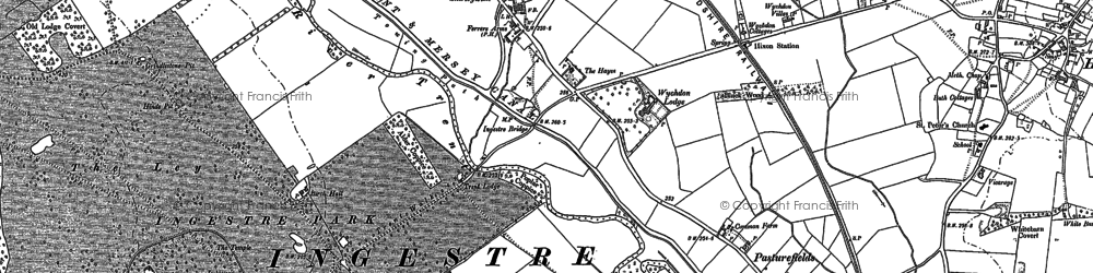Old map of Wychdon Lodge in 1881