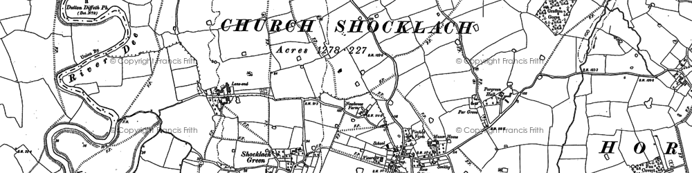 Old map of Lane End in 1897