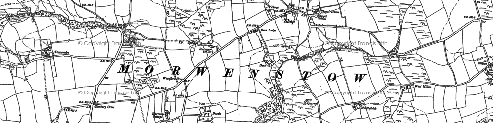 Old map of Shop in 1887