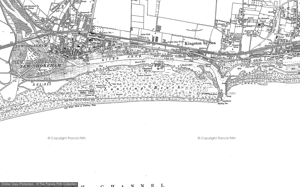 Map of Shoreham-By-Sea, 1896 - 1909