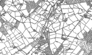 Old Map of Shortgate, 1898