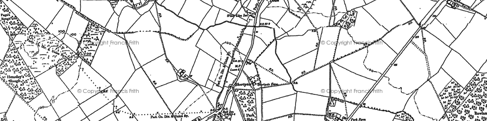 Old map of Laughton Common in 1898