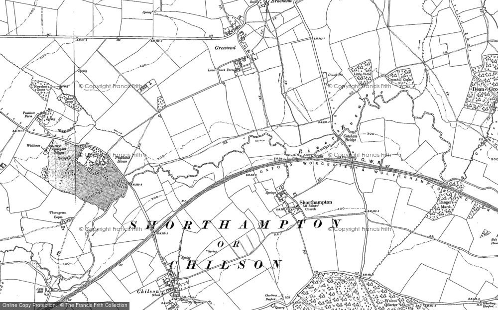 Old Map of Shorthampton, 1898 in 1898